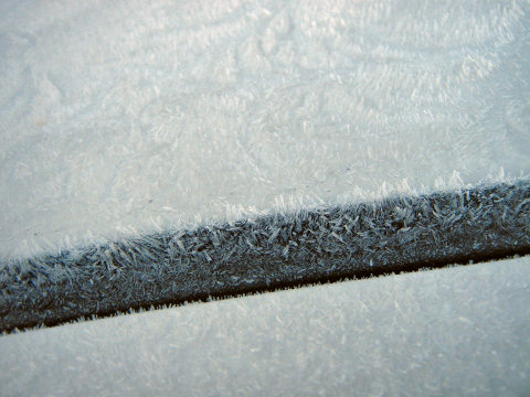 Ice on my car this morning