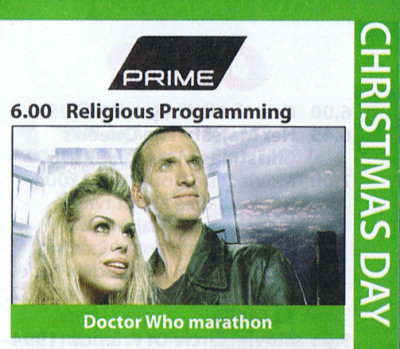 Clipping: Religious Programming: Doctor Who Marathon