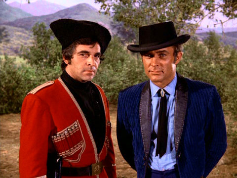 Donnelly Rhodes with Robert Conrad as James West