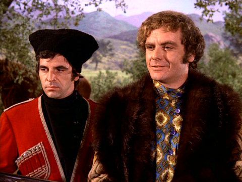 Donnelly Rhodes with Guy Stockwell as Prince Gregor